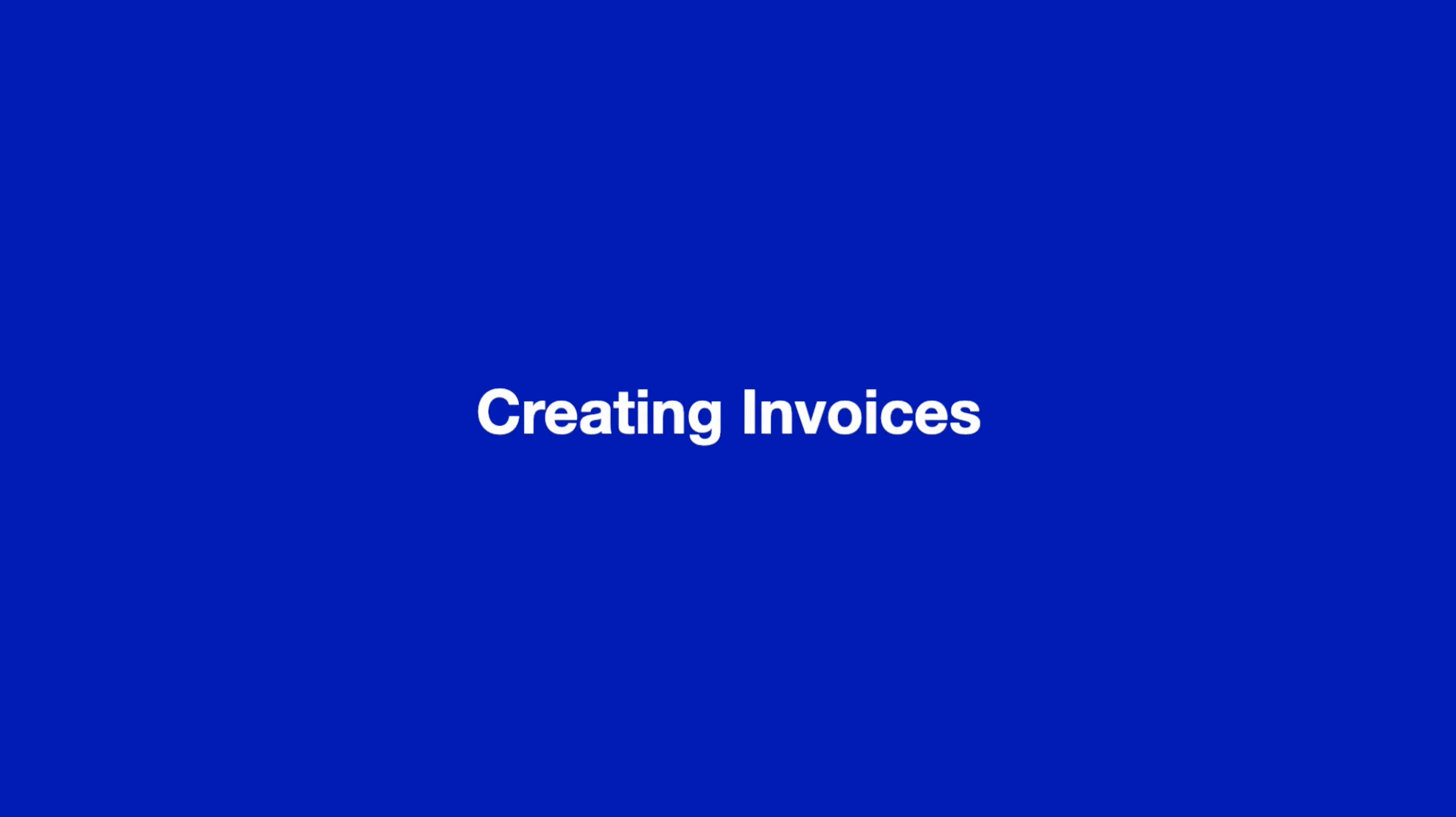 Creating Invoices thumbnail