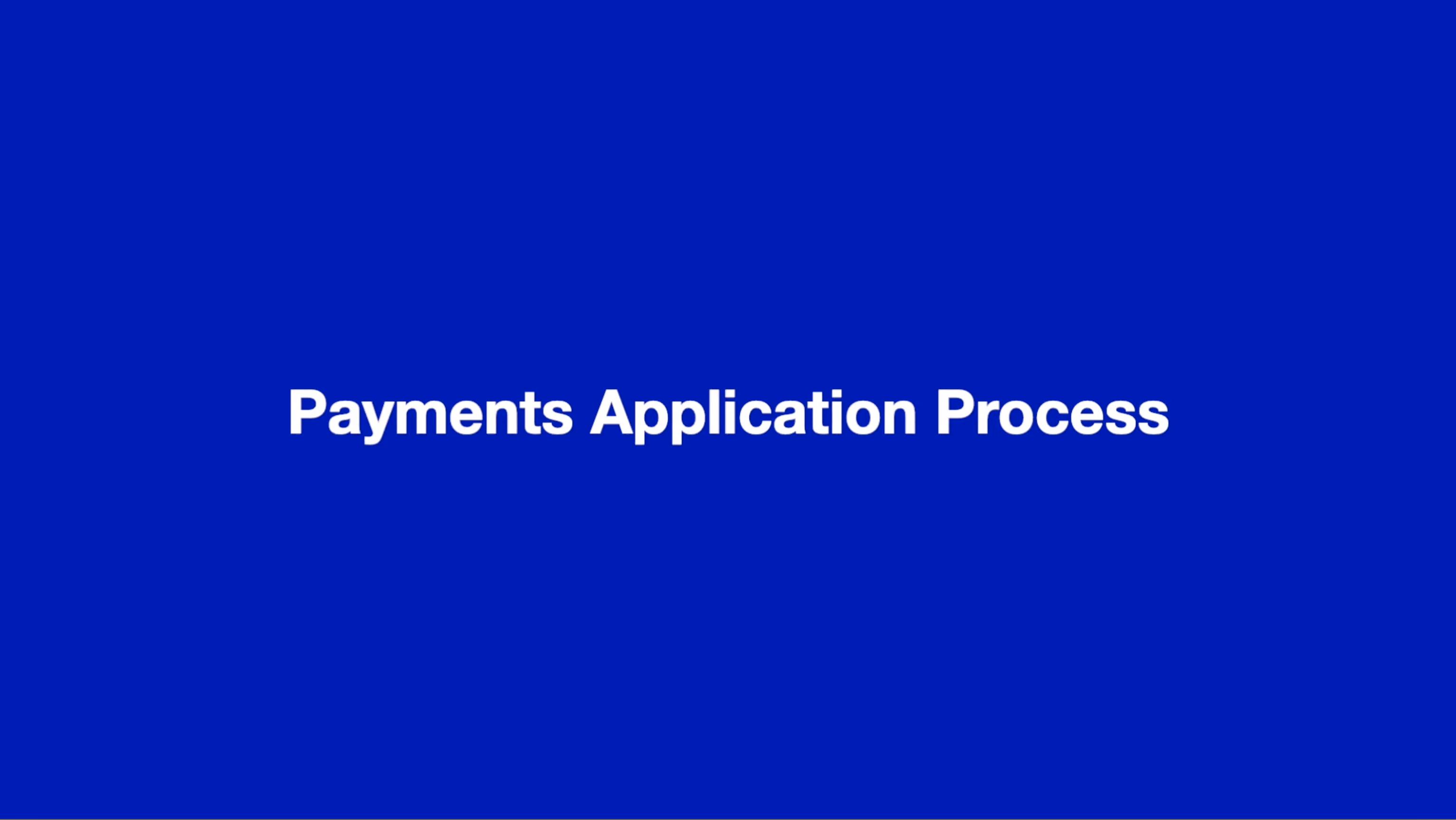 Payments Application Process thumbnail