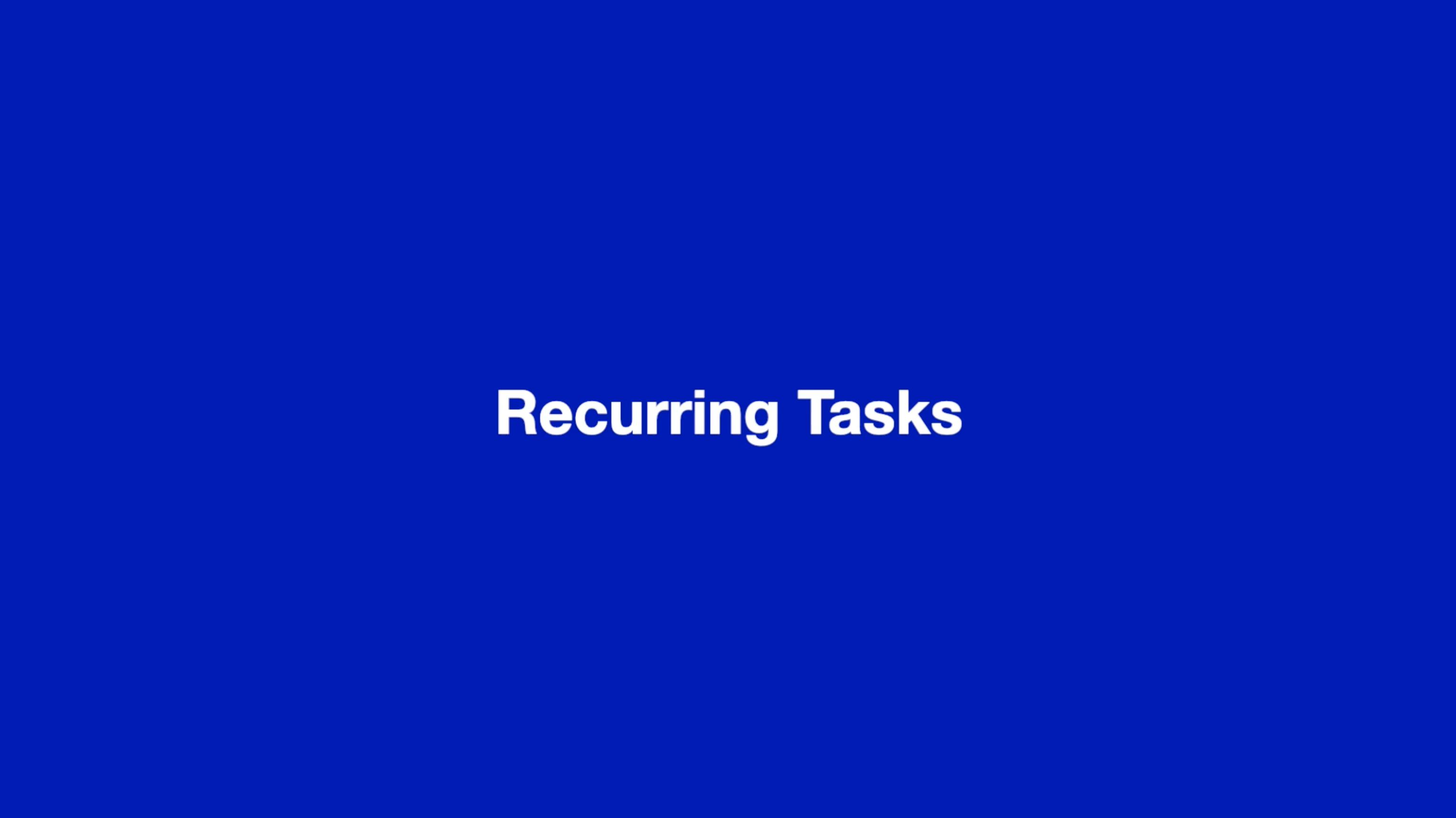 Recurring tasks thumbnail