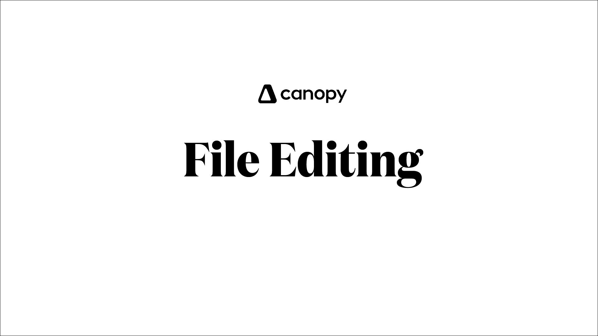 File editing
