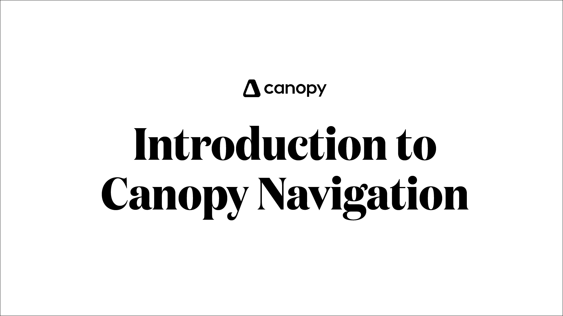 Navigation Intro
