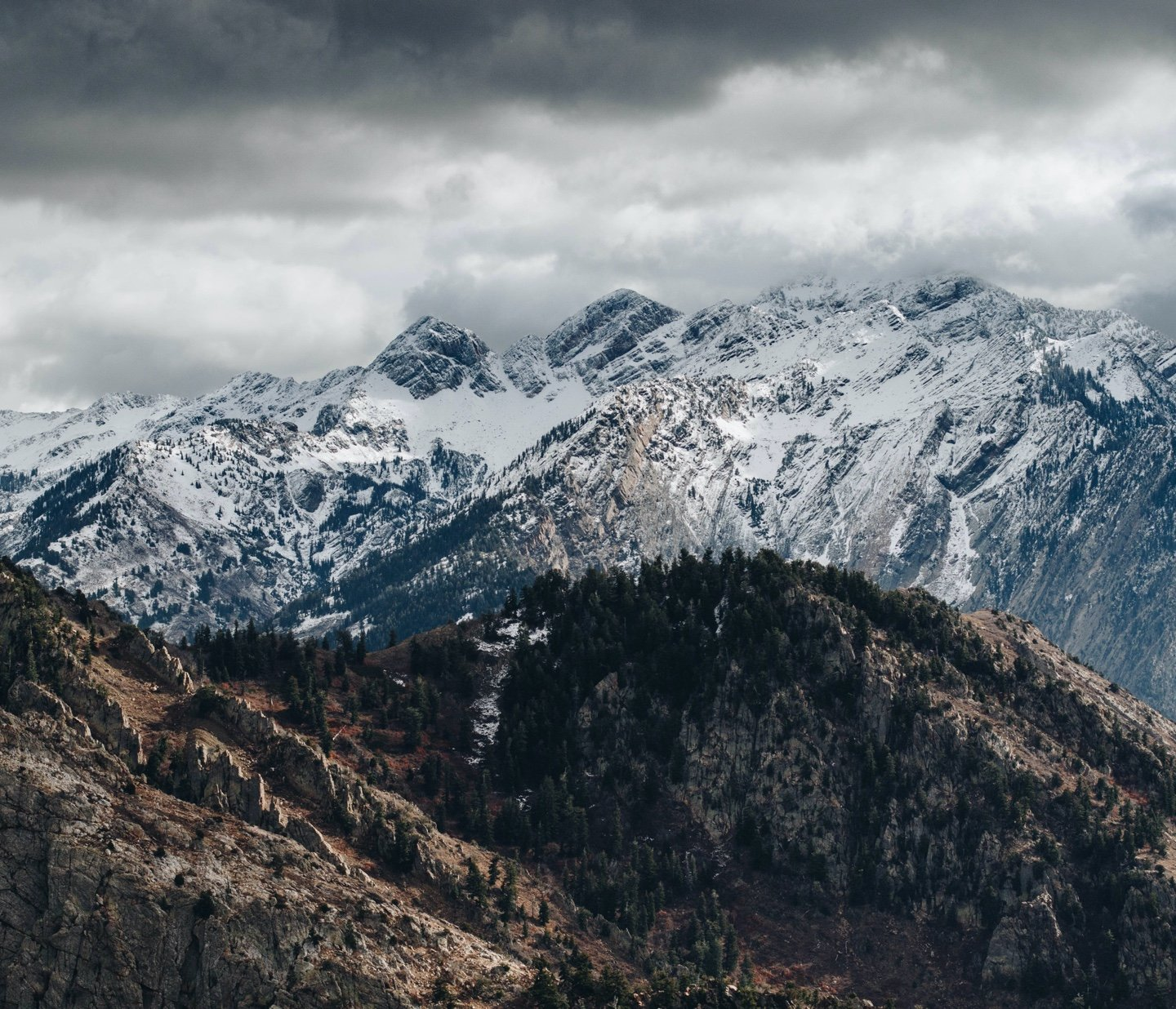 Snow-capped Utah Mountains